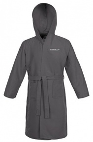 Speedo Bathrobe Microfiber Grey