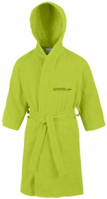 Speedo Bathrobe Microterry Junior Apple Green