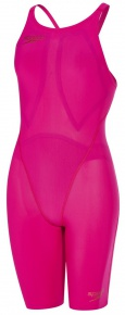 Speedo LZR Racer Element Openback Kneeskin Magenta/Copper