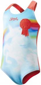 Speedo Sunkissed Shine Applique 1 Piece Kids Watermelon