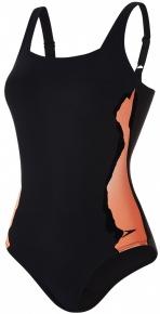 Speedo Auragleam 1 Piece Black/Fluo Orange/White