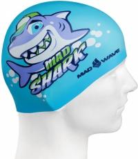 Mad Wave Mad Shark Swim Cap Junior