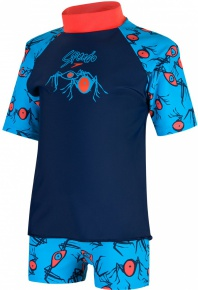 Speedo Loco Burst Essential Suntop Navy/Hot Orange