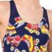 Speedo Allover Splashback Girl Navy/Pure Orange/Pure Yellow