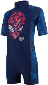 Speedo Marvel Spiderman All In One Boy Navy/Lava Red/Neon Blue