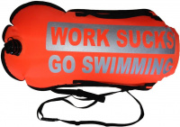 BornToSwim Work Sucks Go Swimming Dry Bag Buoy