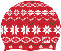 BornToSwim Winter and Holiday Swimming Cap