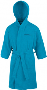 Speedo Bathrobe Microterry Junior Blue Turquoise