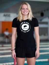 Swimaholic Logo T-Shirt Women Black