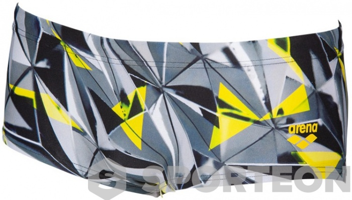 Arena One 3D Shattered Low Waist Short Black/Multi