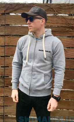 Swimaholic Zip Through Hood Men Heater Grey Melange