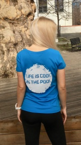 Swimaholic Life Is Cool In The Pool T-Shirt Women Azure