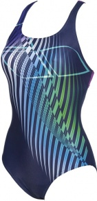 Arena Optical Waves Swim Pro Back One Piece Navy/Provenza
