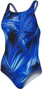 Speedo Allover Powerback Blue Flame/Light Adriatic/Black
