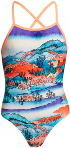 Funkita Misty Mountain Strapped In One Piece Girls