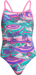 Funkita Palm Cove Eco Single Strap One Piece Girls